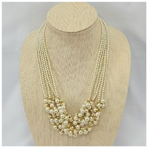 Faux Pearls and More Pearls with Goldtone Accents